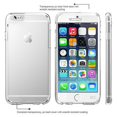 E.C.L® iPhone 6 Plus (5.5) Crystal Clear Front and Back Slim Fit Case.