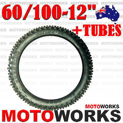 "60/100 - 12"" inch Front Rear Knobby Tyre Tire Tube 90CC 125CC PIT PRO Dirt Bike"