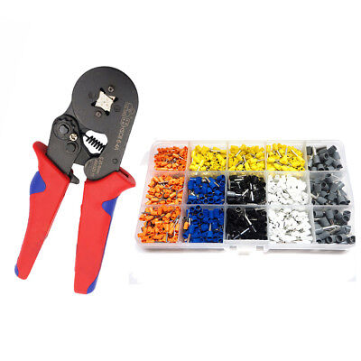 Mixed 1000 Piece wire Ferrules  Kit +0.25-6mm2 Crimper tool Fasen HSC8 6-4A /B