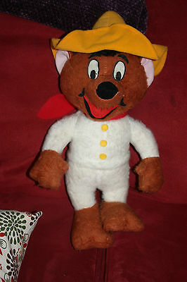 Vintage 1971 Warner Bros Mighty Star - Speedy Gonzales mouse plush! WITH TAGS