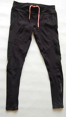 Active Wear Yoga Gym Fitness Sport Running Long Pants Tights Black Womens
