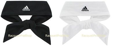 New Adidas Head Tie Headband II Tennis Running Basketball Soccer Black White