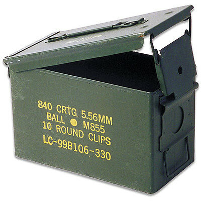 THREE PACK - 50CAL M2A1 MILITARY SURPLUS AMMO CAN