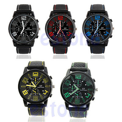 Rubber Band Analog Racing F1 Quartz poignet montre de sport pour hommes