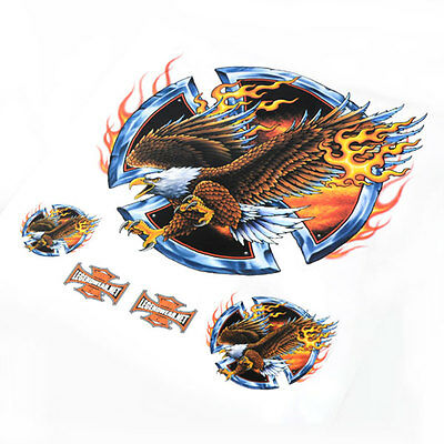 Flame Eagle Sticker/Decal Set For Motorcycle Motorbike #2