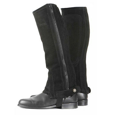 New SHIRES Black Suede Half Chaps XS/S/M/L/XL