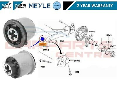 For Ford Fiesta Mk6 Fusion Mazda 2 Rear Axle Suspension Beam Bush Meyle Germany