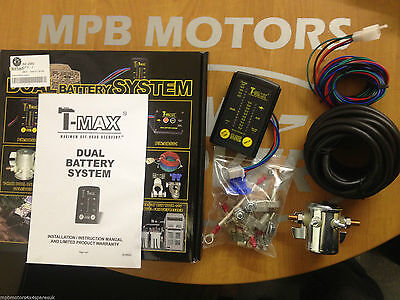 T Max Dual Battery Split Charge System Led Monitor Heavy Duty Land Rover Camper