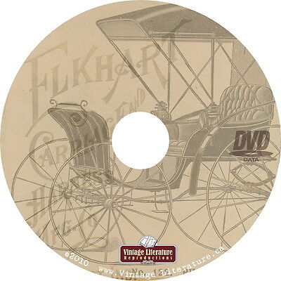 Elkhart Carriage Saddle Wagon { 1894 Horse and Buggy } Catalogs on DVD