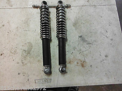 PUCH MOPED MAGNUM FREESPIRIT ETC PAIR OF CHROME COIL SHOCKS NO RESERVE AUCTION!!
