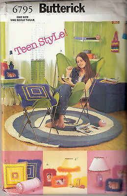 Butterick 6795 Sewing Pattern Teen Style Chair Ottoman Cover Frames Jewelry Box