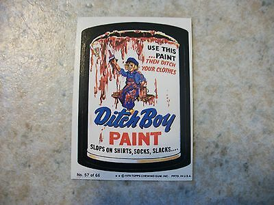 Vintage Topps Wacky Package Sticker Trading Card #57-Ditch Boy Paint,Puzzle Back