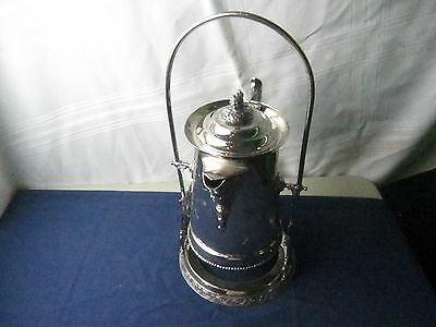 Victorian Silverplate tilting water/coffee pitcher on cradle