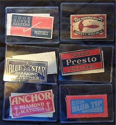 Vintage Old Match Box Lot 1950s-60's USA, Ohio Match Co. & more 12 different!