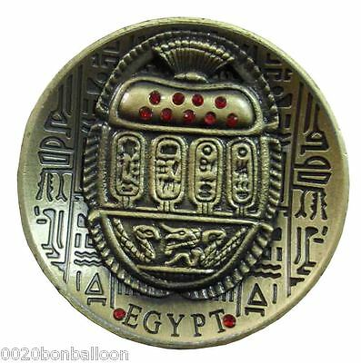 "Egyptian Pharaoh Scarab Ancient Fridge Magnet Engraved Hieroglyphics  2.2"" (206)"