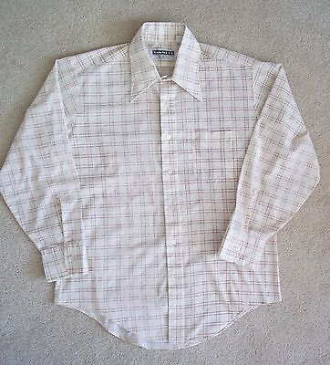 Vintage men's Van Neff shirt 1970s button front cream large L