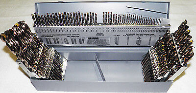 "1/16-1/2"" #1-60 A-Z 115pcs Cobalt Jobber Length Drill Set 135°Point USA RMT"