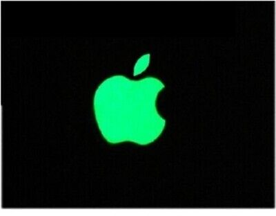 Glow in the Dark Apple Logo Vinyl Sticker 4, 4s, 5,5s,5c etc...uk free post