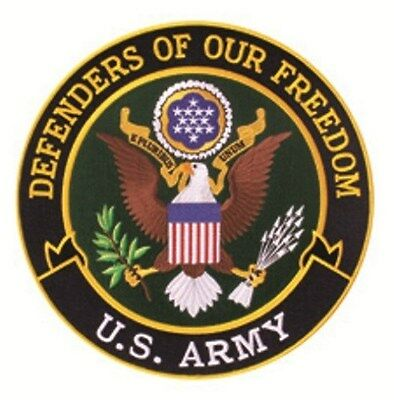 """Defenders of Freedom - Army Patch - 12"""" Circle"""