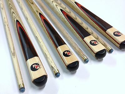 """NEW ASH with Red wood Flame Pool Snooker Billiard Cue Cues SET """"make an offer"""""""