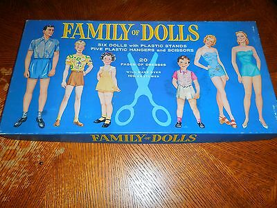 1960 Family of Dolls Paper Dolls Western Printing & Litho 20 Pages Nice Vintage
