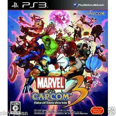 New PS3 Marvel Vs. Capcom 3 Fate of Two Worlds Japan import