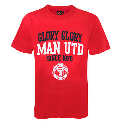 Manchester United FC Official Football Gift Boys Graphic T-Shirt Red