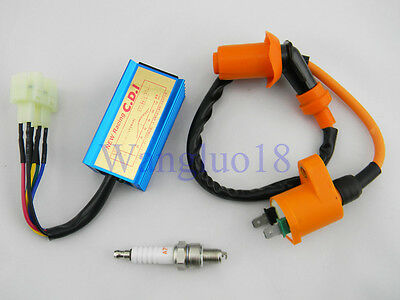 Scooter Ignition Coil + Racing performance 6 pin CDI Box Chinese Gy6 50cc 150cc