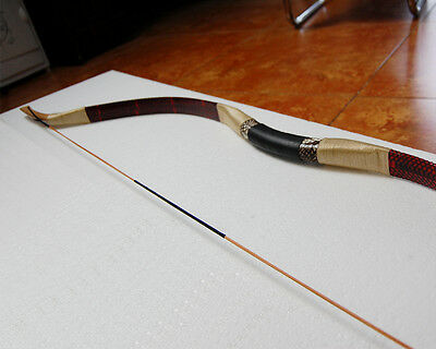 50lbs Mongolian Handmade Snakeskin Recurve Bows Longbow Archery Hunting Shooting