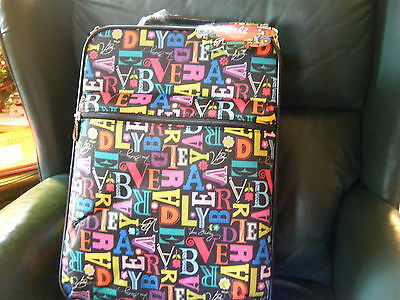 "VERA BRADLEY 20"" Rolling Upright  FROM A TO VERA  Carry On,  New with Tags!"