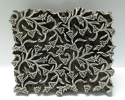 INDIAN WOODEN HAND CARVED TEXTILE PRINTING ON FABRIC BLOCK / STAMP DESIGN HOT 30