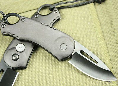 Outdoor Tool BUCK black Oxide a Portable line Lock Small folding Knife k64