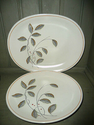 "Set Of Two Crown Devon Plates ""Cathay"" Pattern Both Different Shapes In Vgc"