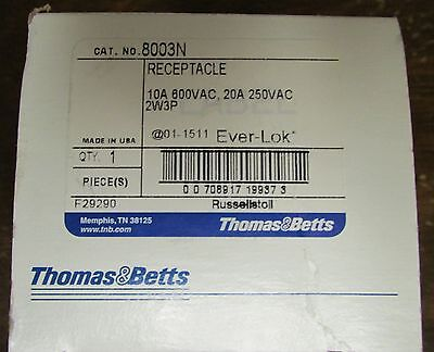 THOMAS & BETTS RUSSELLSTOLL 8003N 10-20 AMP 250-600 V Receptacle