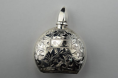 950 Silver Perfume Bottle With Floral Decoration
