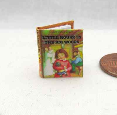 1:12 SCALE MINIATURE BOOK LITTLE HOUSE IN THE BIG WOODS ILLUSTRATED READABLE