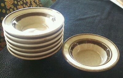 Shenango Ironstone Anchor Hocking PA A J-37 LOT/7 china  berry bowls restaurant