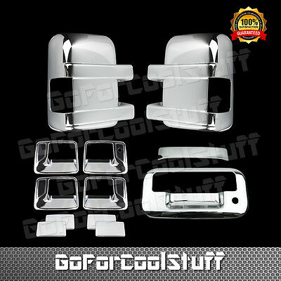 For 08 ~ 16 Ford F250 F350 Sd Chrome Door Handle Mirror Tailgate Covers Nk