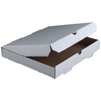 "10"" Plain White Corrugated Pizza Box, 50 per case"