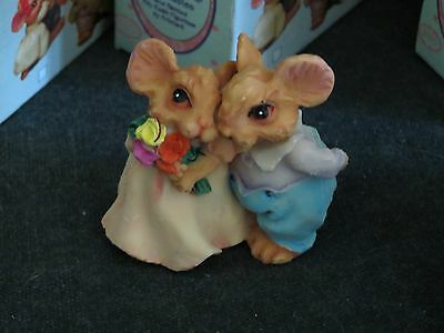 5 ~Itty Bitty Friends Collectables Poly Resin MICE Artmark
