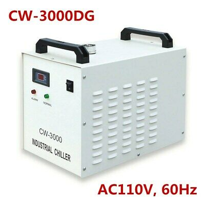 60W / 80W CW-3000DG Industrial Water Chiller with CO2 Glass Laser Tube AC110V