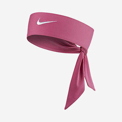 New Womens Nike Head Tie Dri Fit 2.0 Pink Headband Tennis Running Basketball