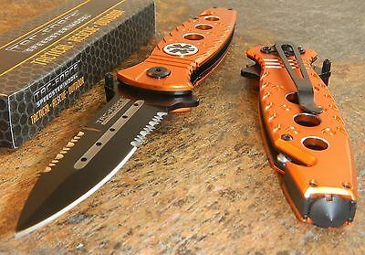 TAC FORCE Spring Assisted Opening EMS EMT Flipper Tactical Rescue Pocket Knife
