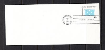 Micronesia FDC - 1984 Flag Envelope Issue