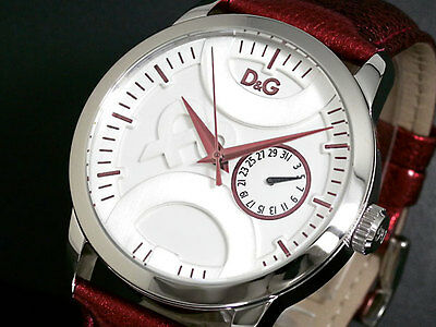 BELLISSIMO D&G OROLOGIO DONNA TWIN TIP LADY ROSSO BORDO' DW0701 LIST. € 178,00