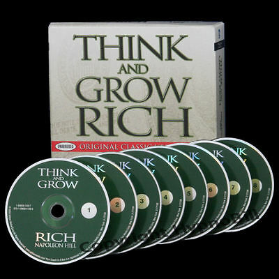 Original Think And Grow Rich Napoleon Hill COMPLETE 8 CDs Success NEW