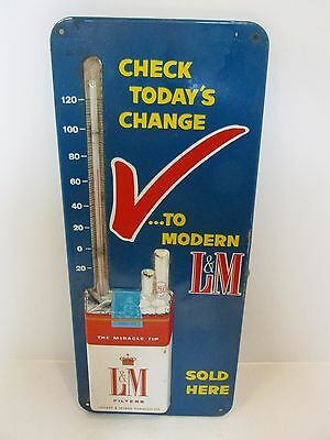 vintage L&M thermometer, tobacco advertising