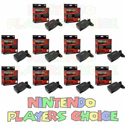WHOLESALE LOT 10X AC Adapter Power Cords For the Nintendo 64 System New NIB