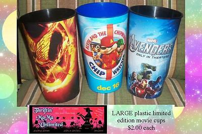 Avengers Theater Movie Plastic COLLECTIBLE Cup