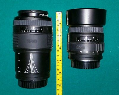 Sigma AF Zoom Lenses for Minolta/Sony - 28-70mm(F3.5-4.5) and 70-210mm(F4.0-5.6)